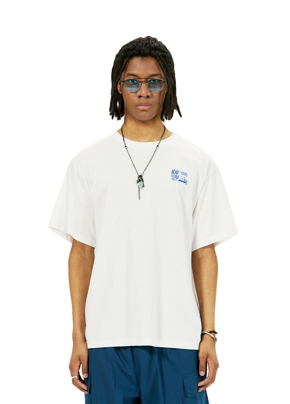 LIFUL X M.NII LOGO TEE snow white