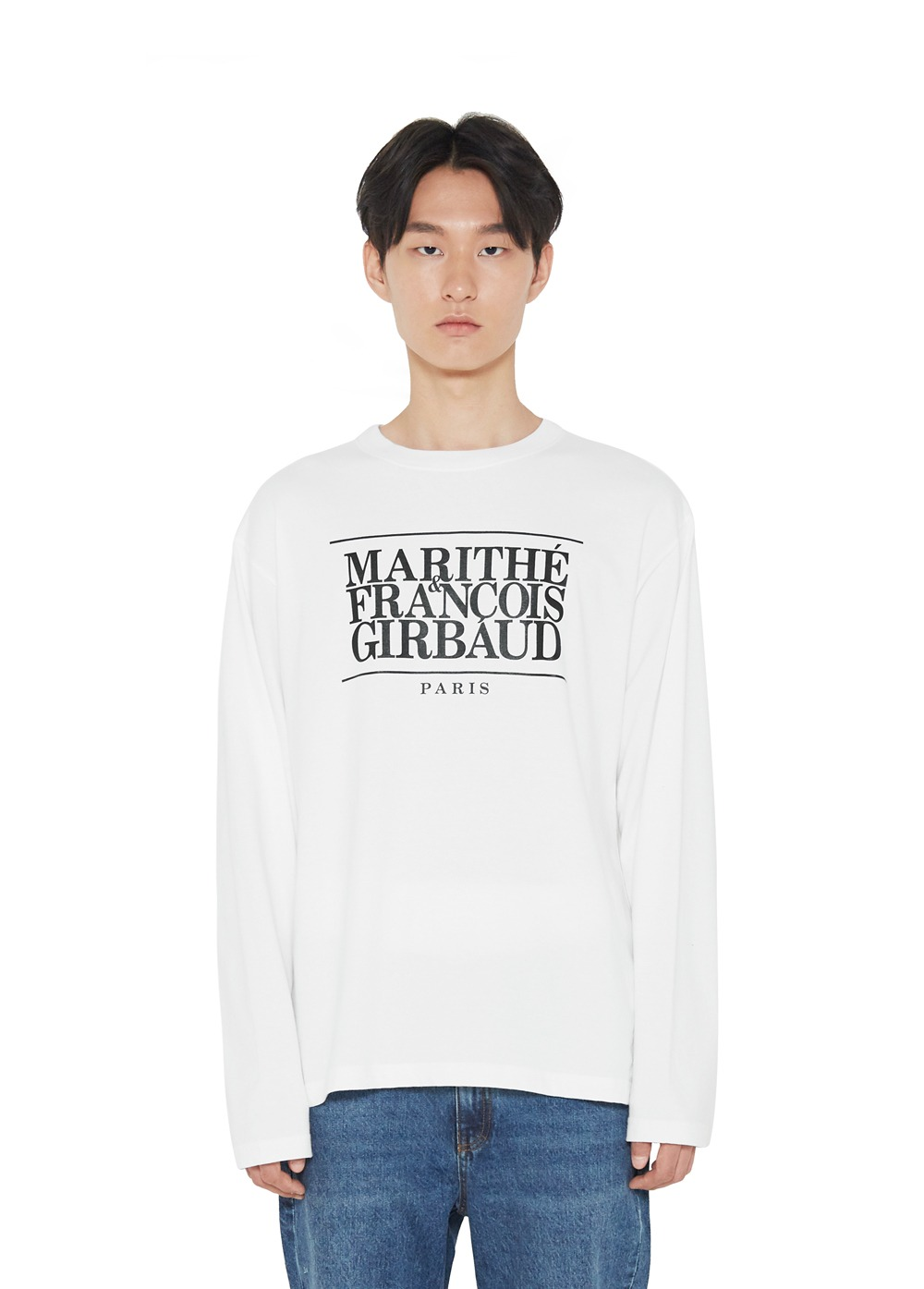 MFG CLASSIC LOGO L/S TEE off white