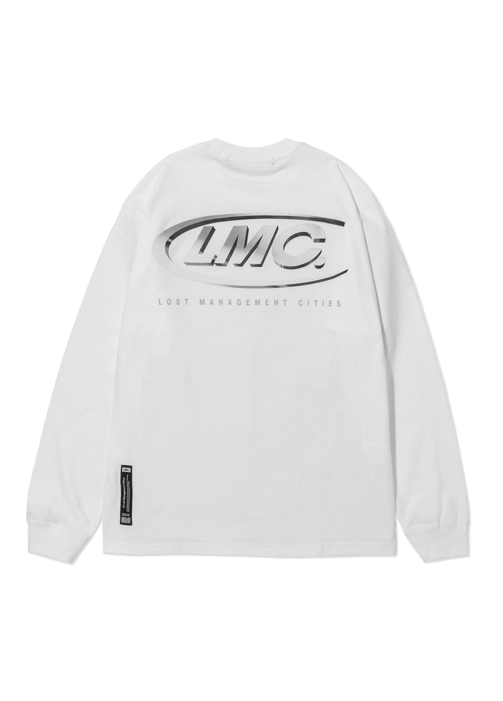 LMC 3D CO LONG SLV TEE white