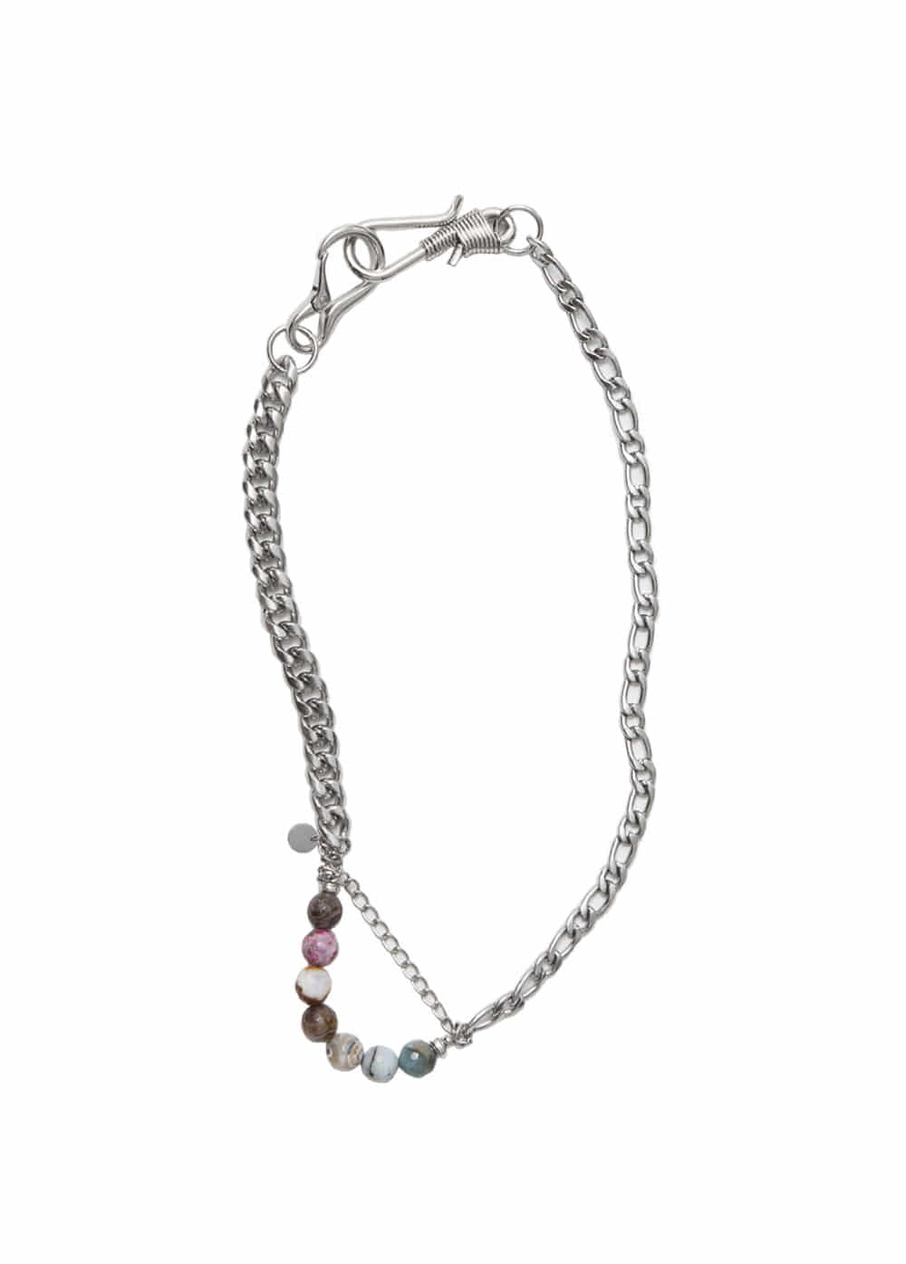 LIFUL 2WAY CHAIN NECKLACE silver
