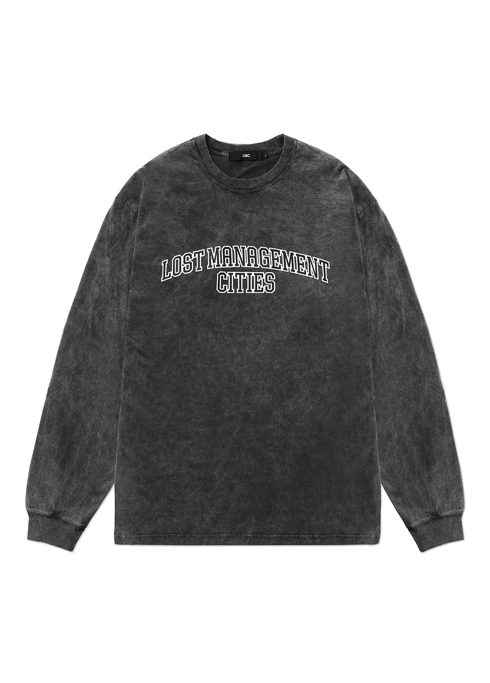LMC ACID WASHED ARCH FN LONG SLV TEE black