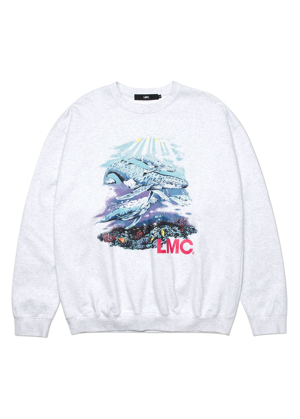LMC SEAWORLD OVERSIZED SWEATSHIRT lt. heather gray