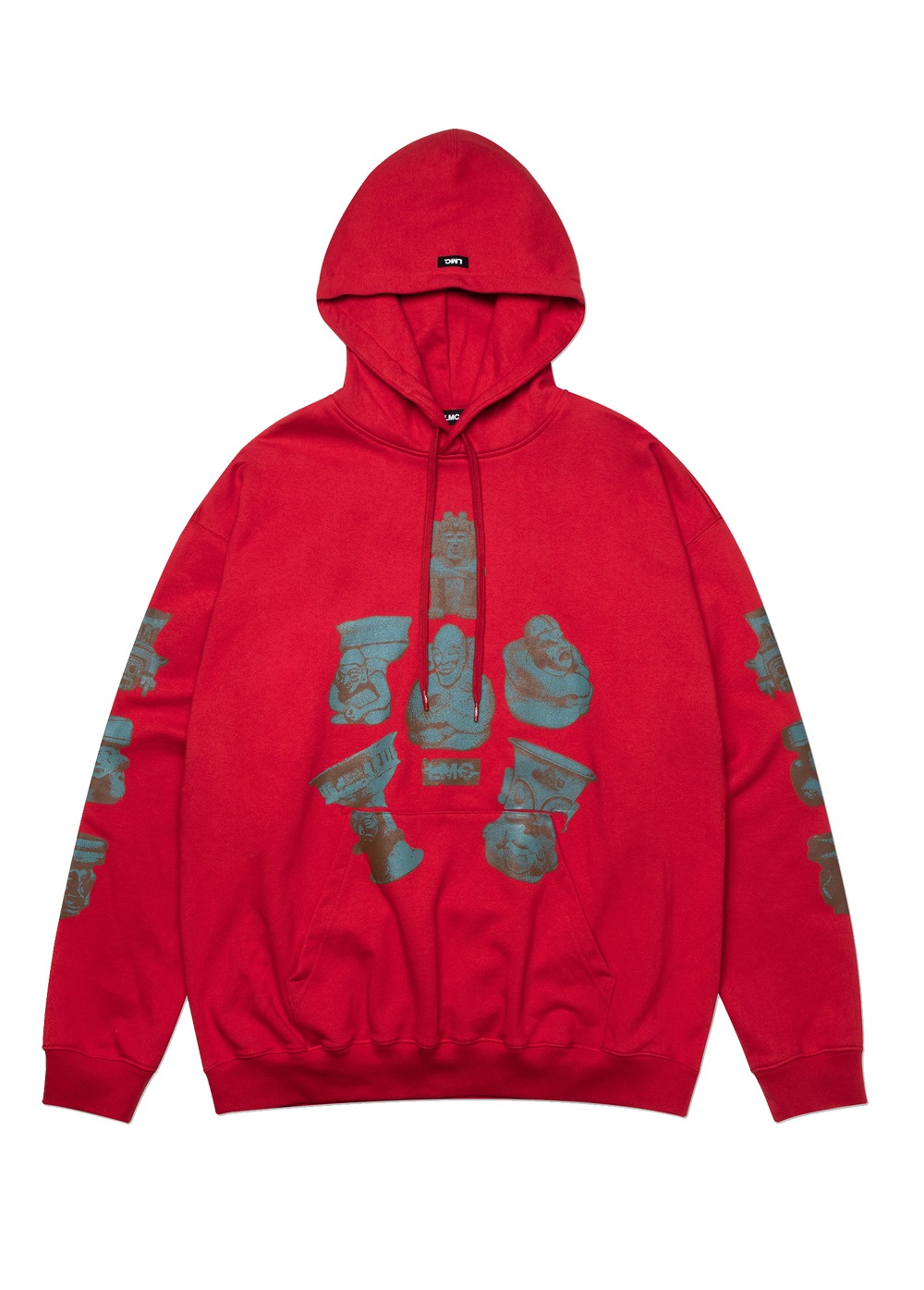 LMC MAYAN RELIC OVERSIZED HOODIE red