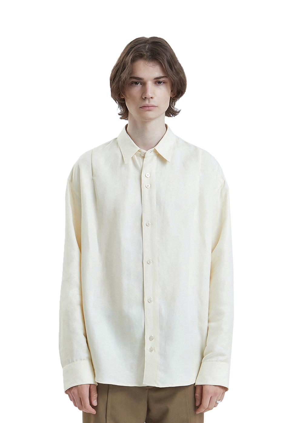 LIFUL ONE TUCK SHIRT off white