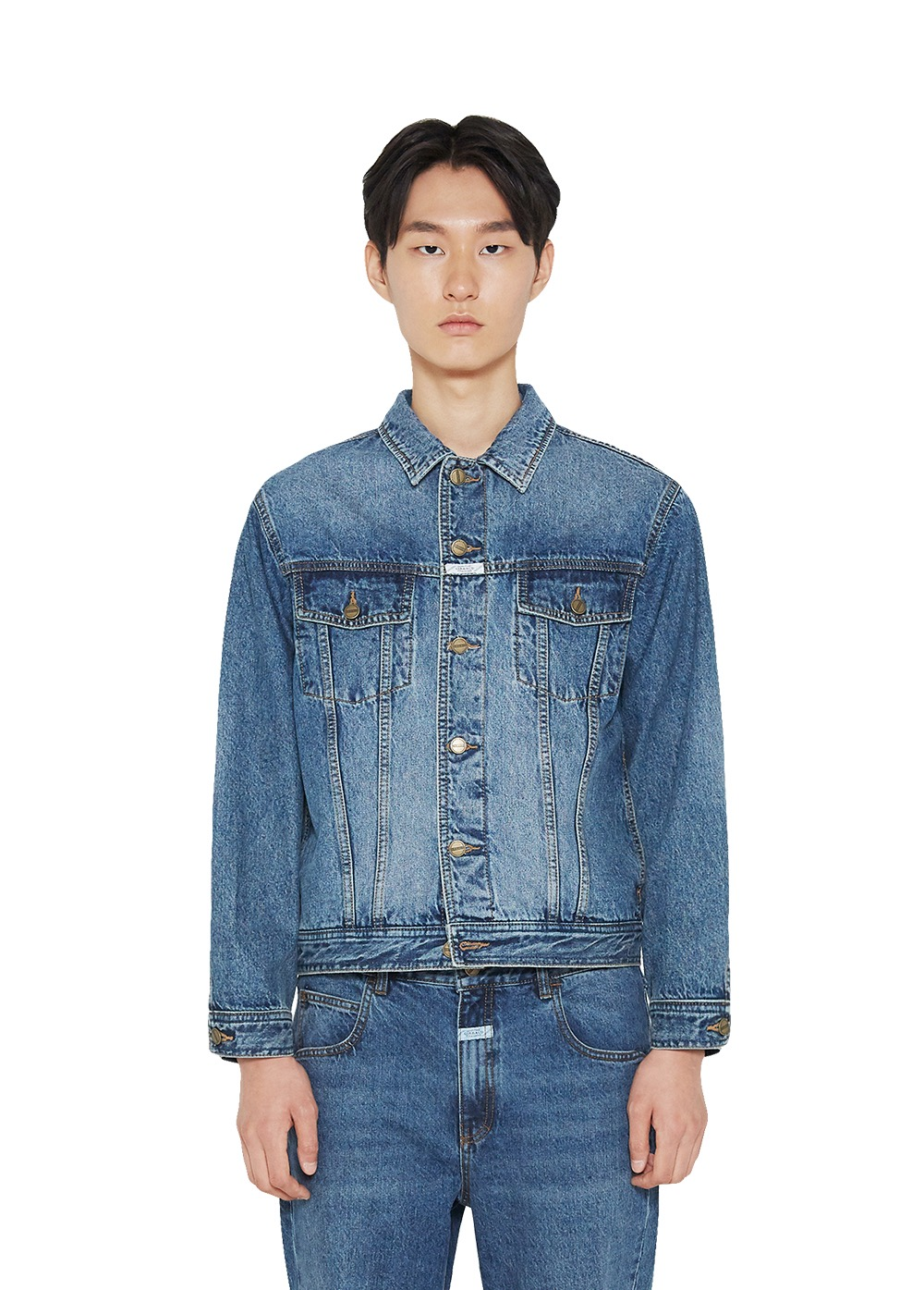 MFG TRUCKER JACKET mid blue