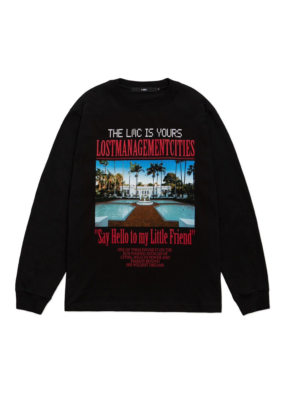 LMC MANSION LONG SLV TEE black