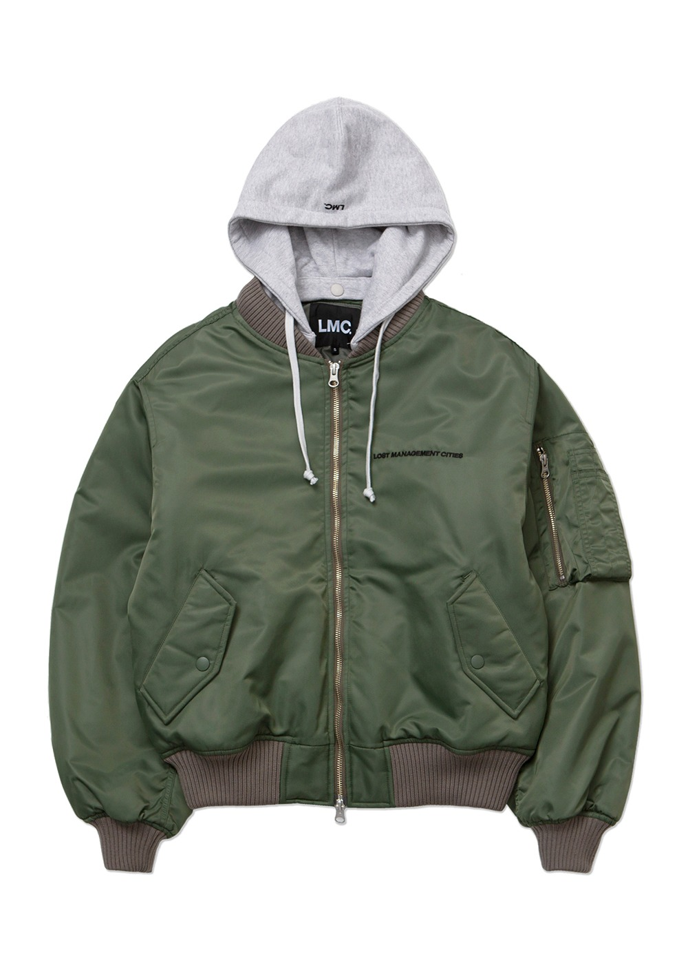 LMC MA-1 HOODED JACKET olive
