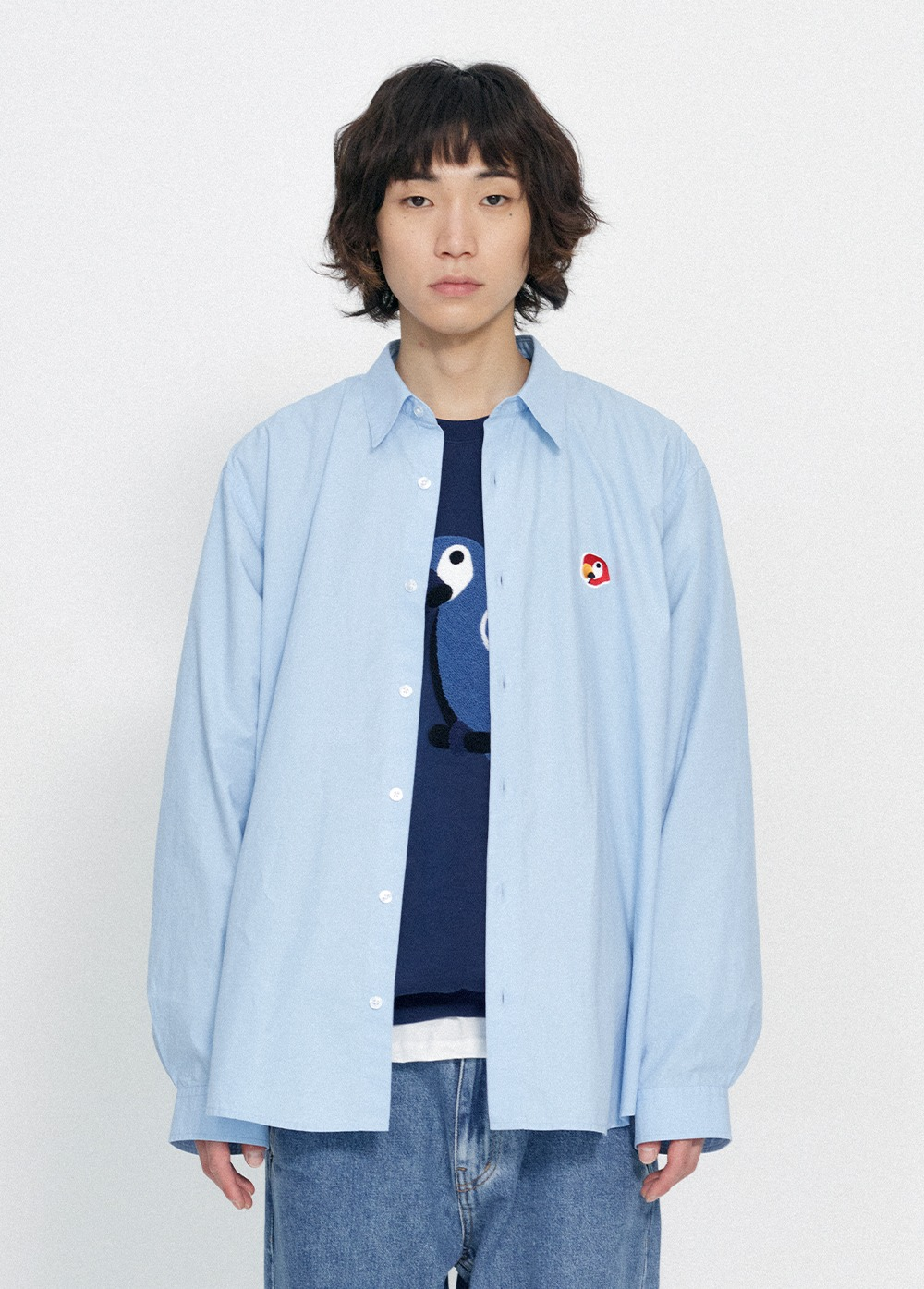 KANCO POPLIN SHIRT blue