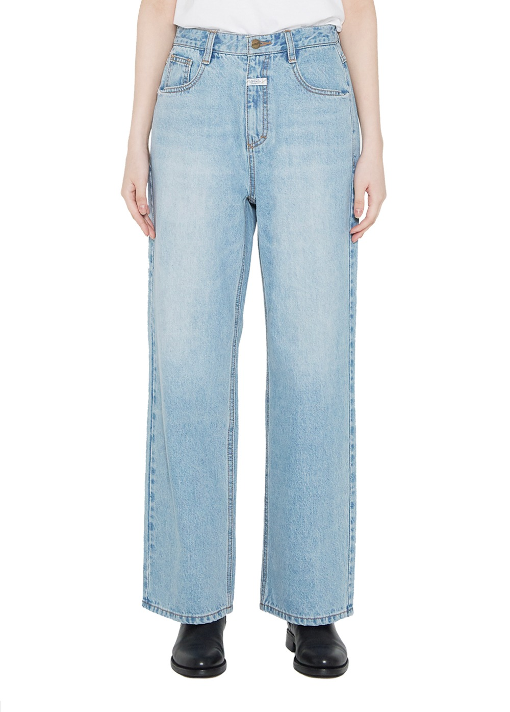 MFG W WIDE JEANS light blue
