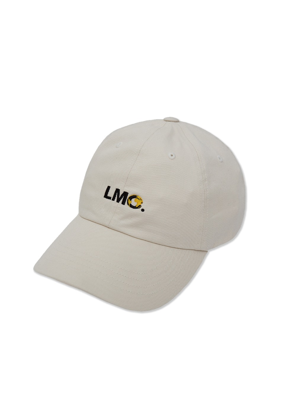 LMC EARTH LOGO 6 PANEL CAP ivory