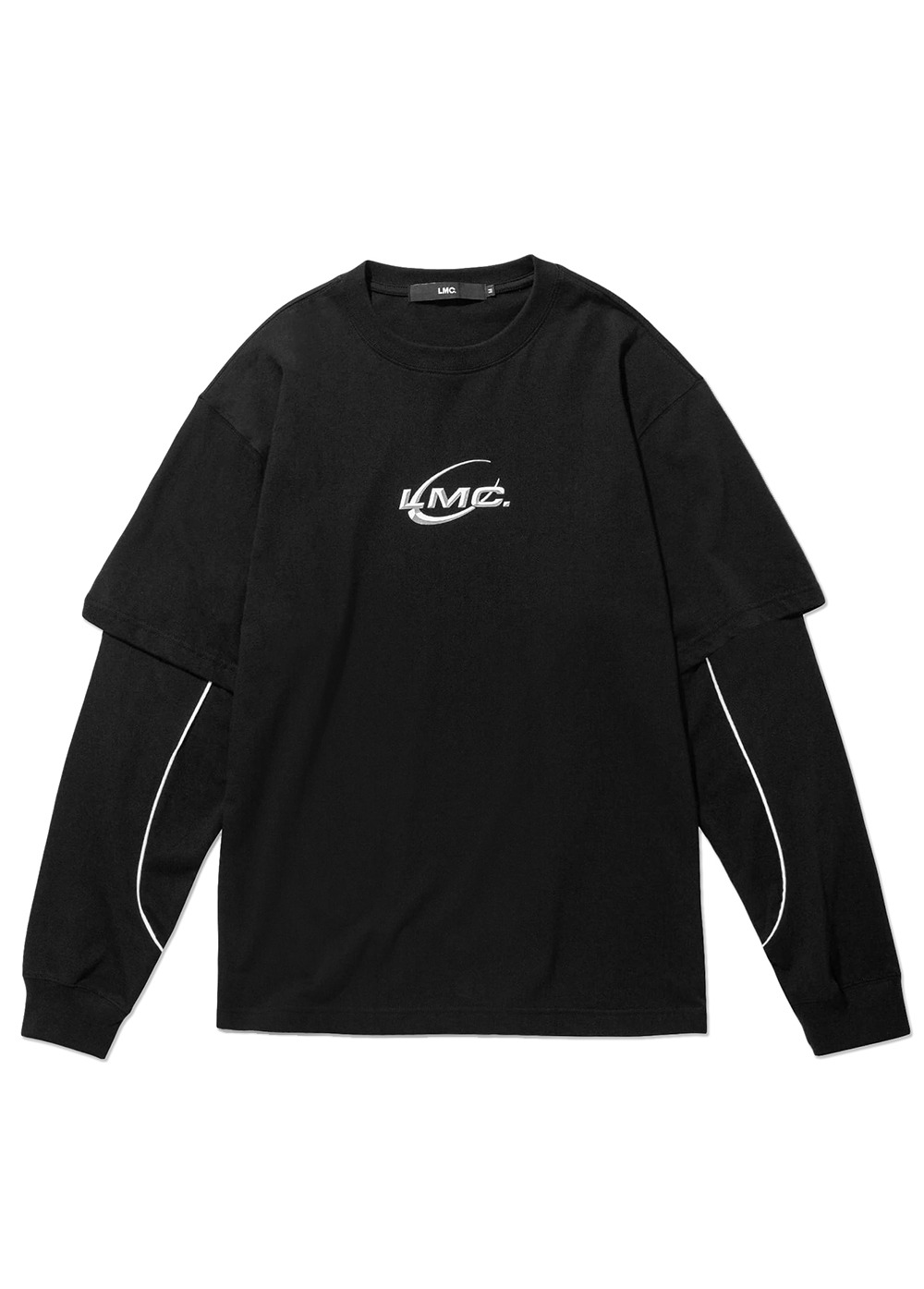 LMC PIPE LINE LAYERED LONG SLV TEE black