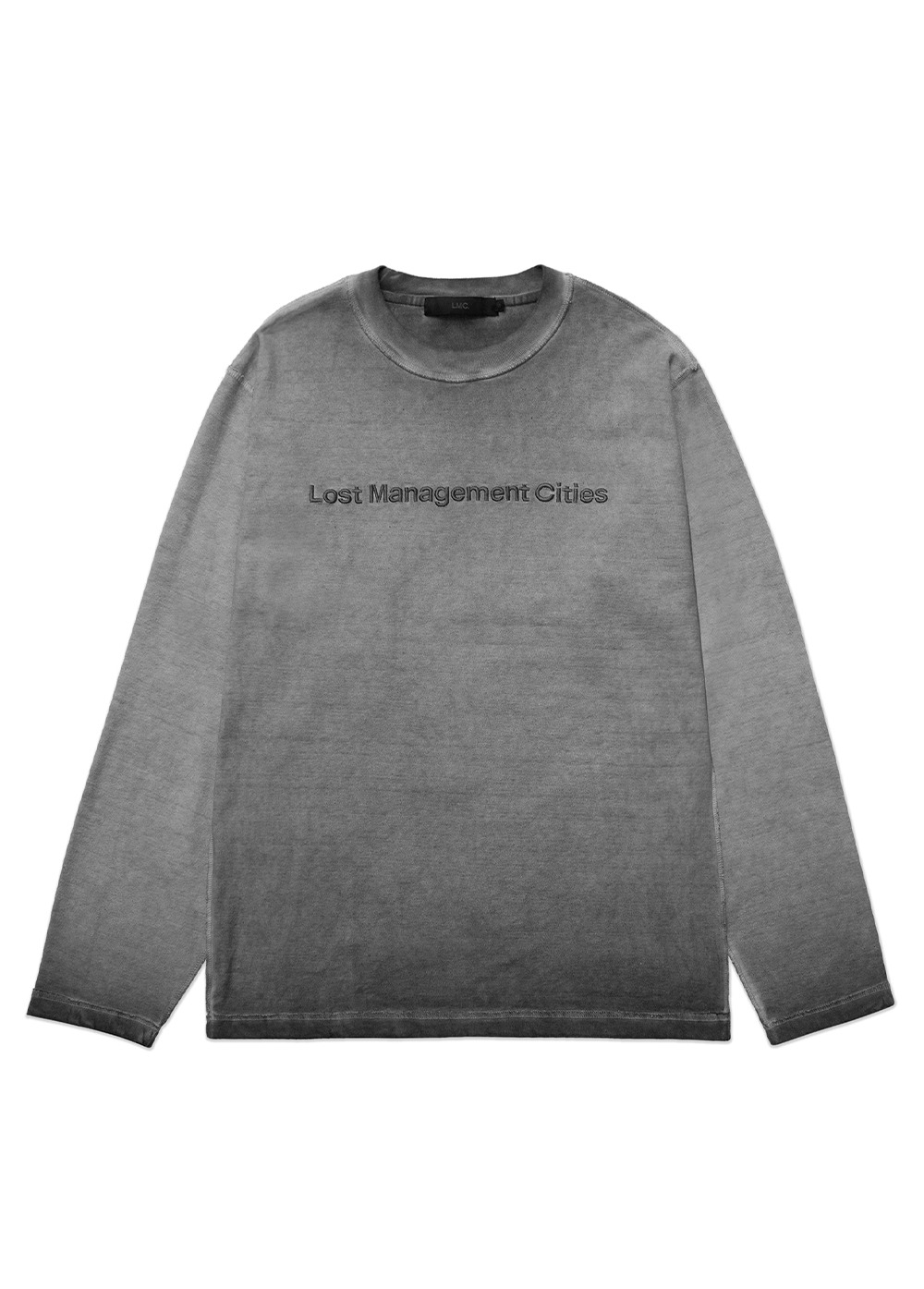 LMC OVERDYED TED FN LONG SLV TEE black