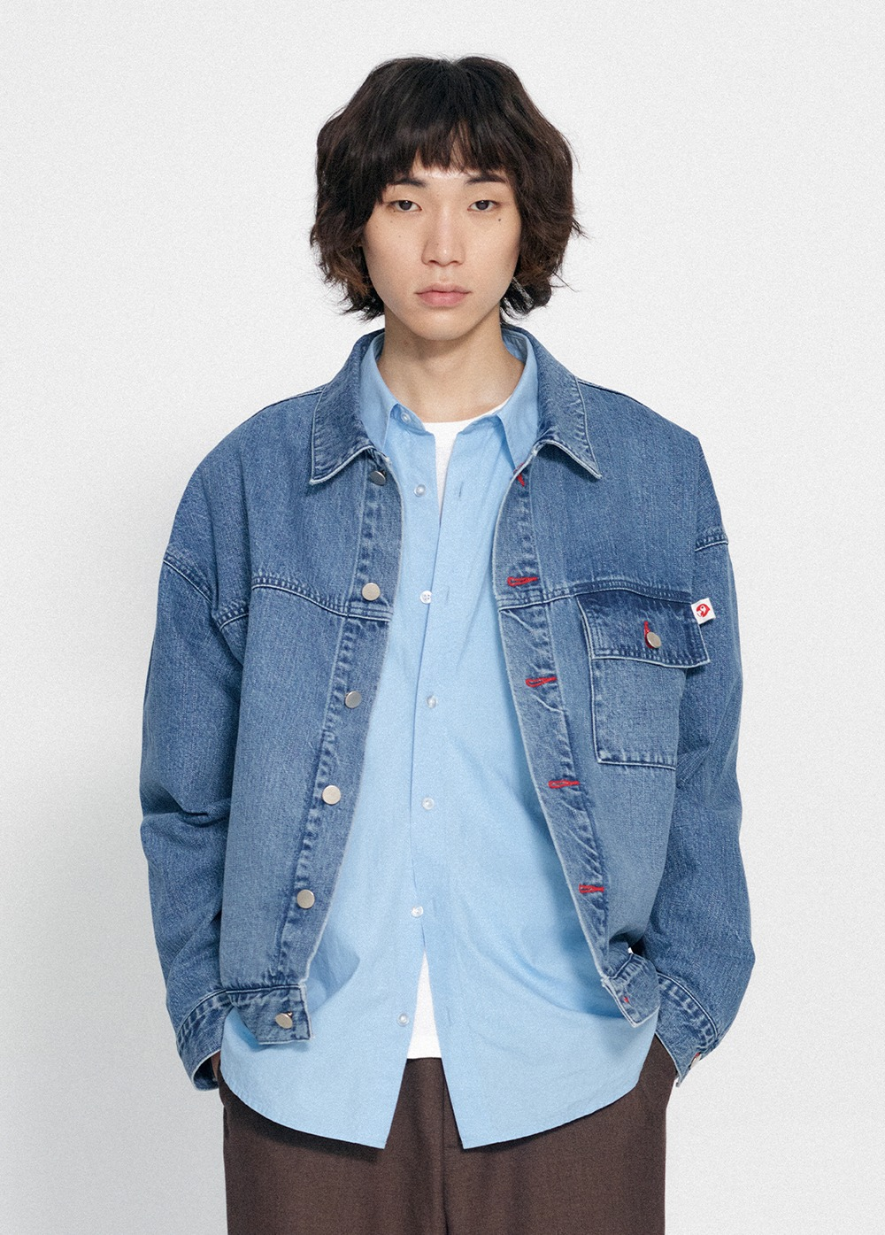 KANCO DENIM TRUCKER JACKET blue denim