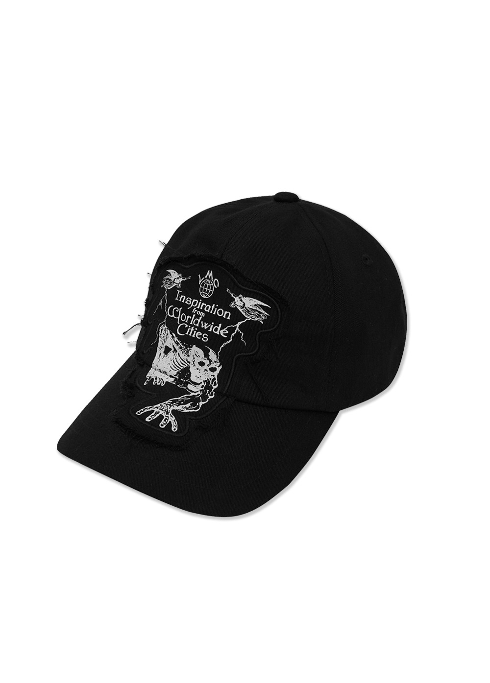 LMC RAW EDGE DEATH 5 PANEL CAP black