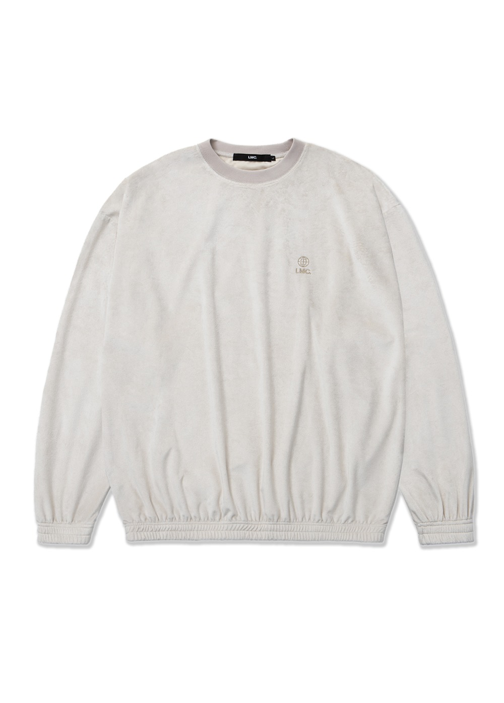 LMC VELOUR OVERSIZED SWEATSHIRT cream
