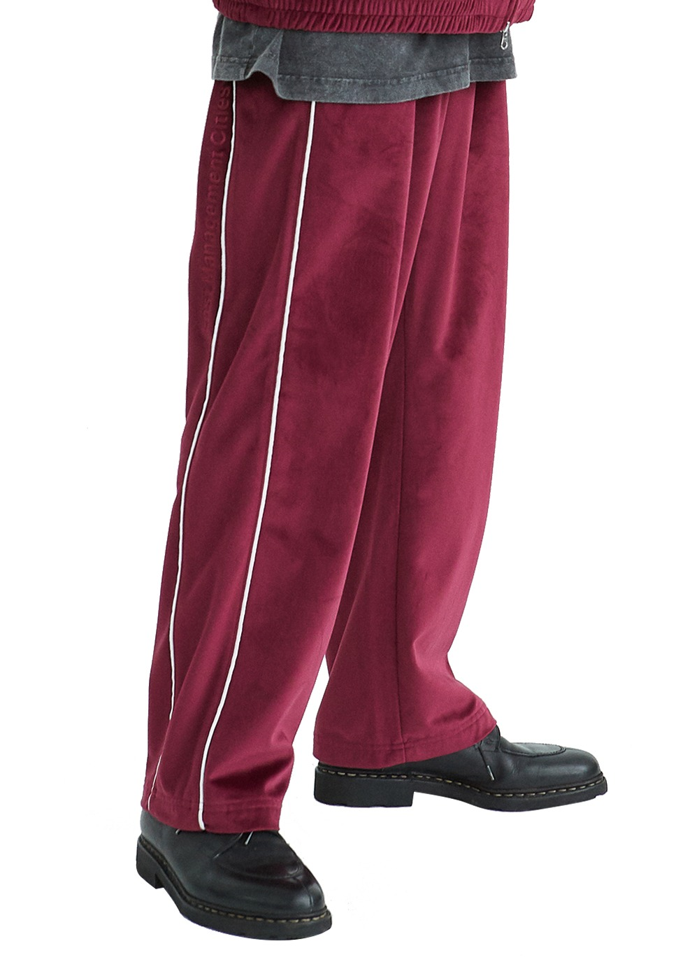 LMC VELOUR TRACK PANTS burgundy