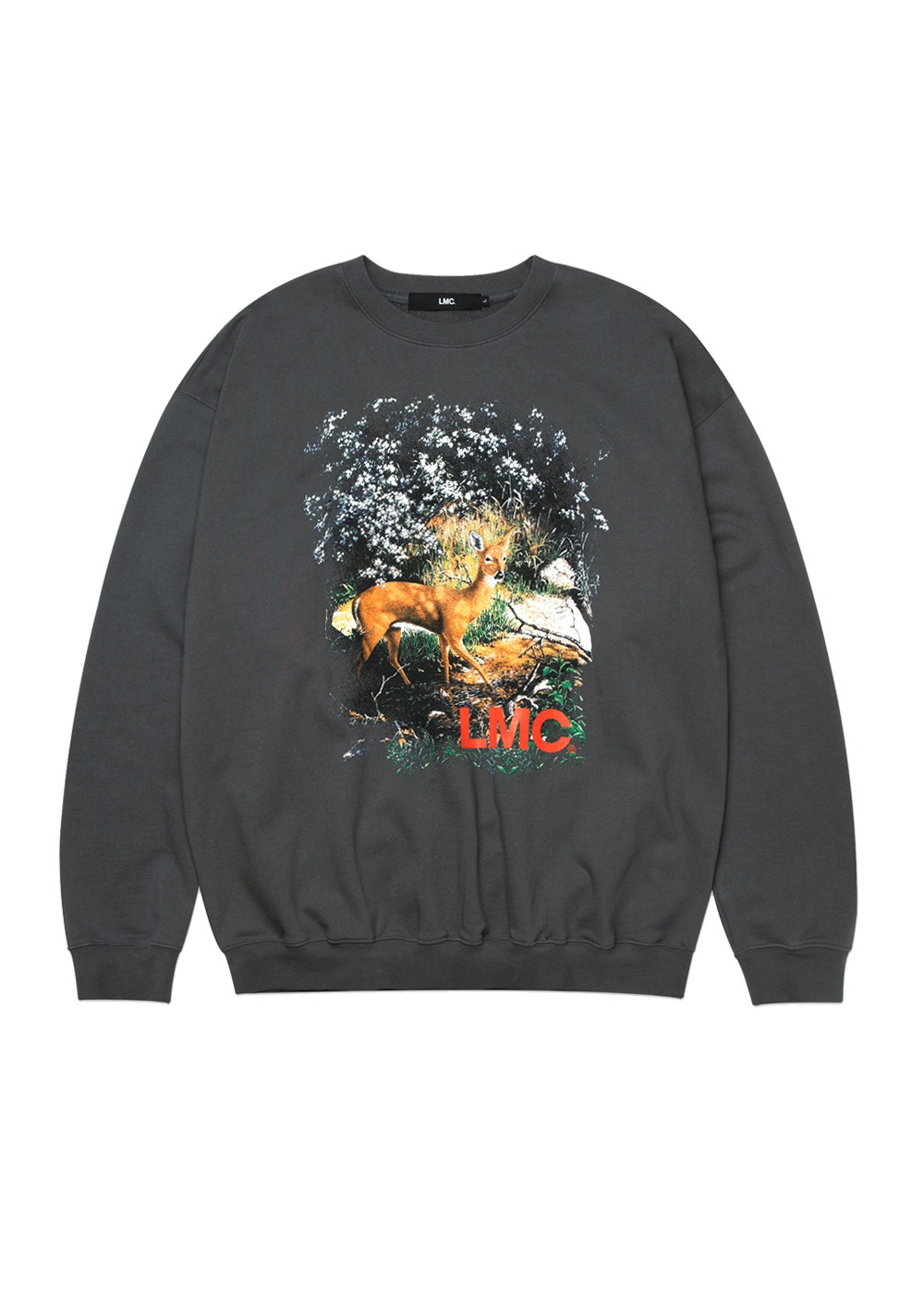 LMC DEER OVERSIZED SWEATSHIRT charcoal