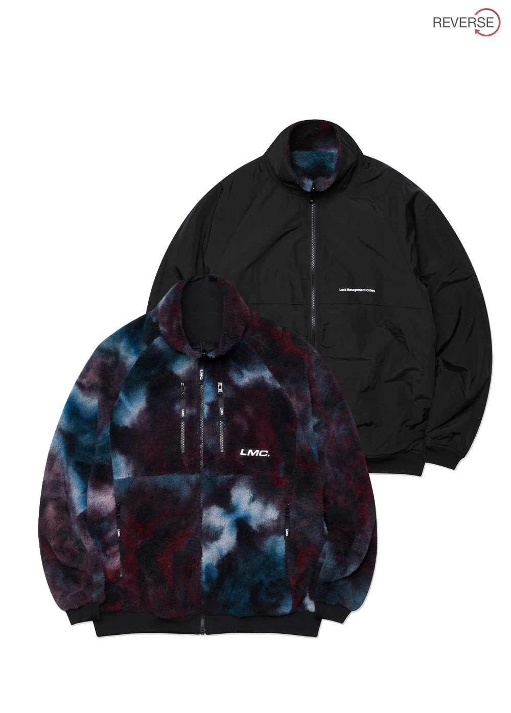LMC FLEECE REVERSIBLE MP JACKET multi/black