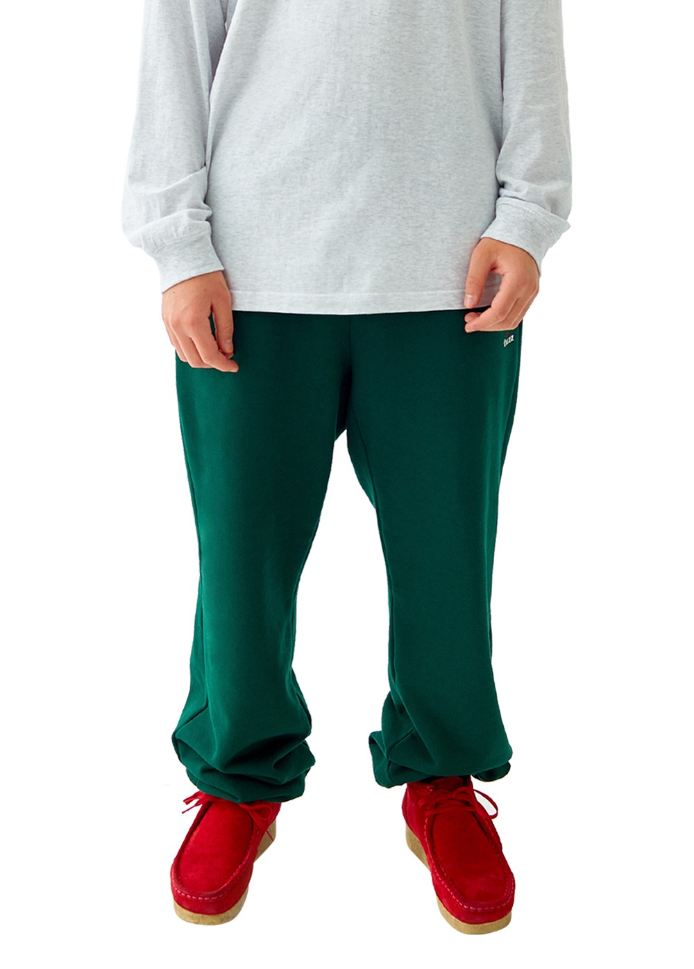 FUZZ R LOGO SWEATPANTS dark green