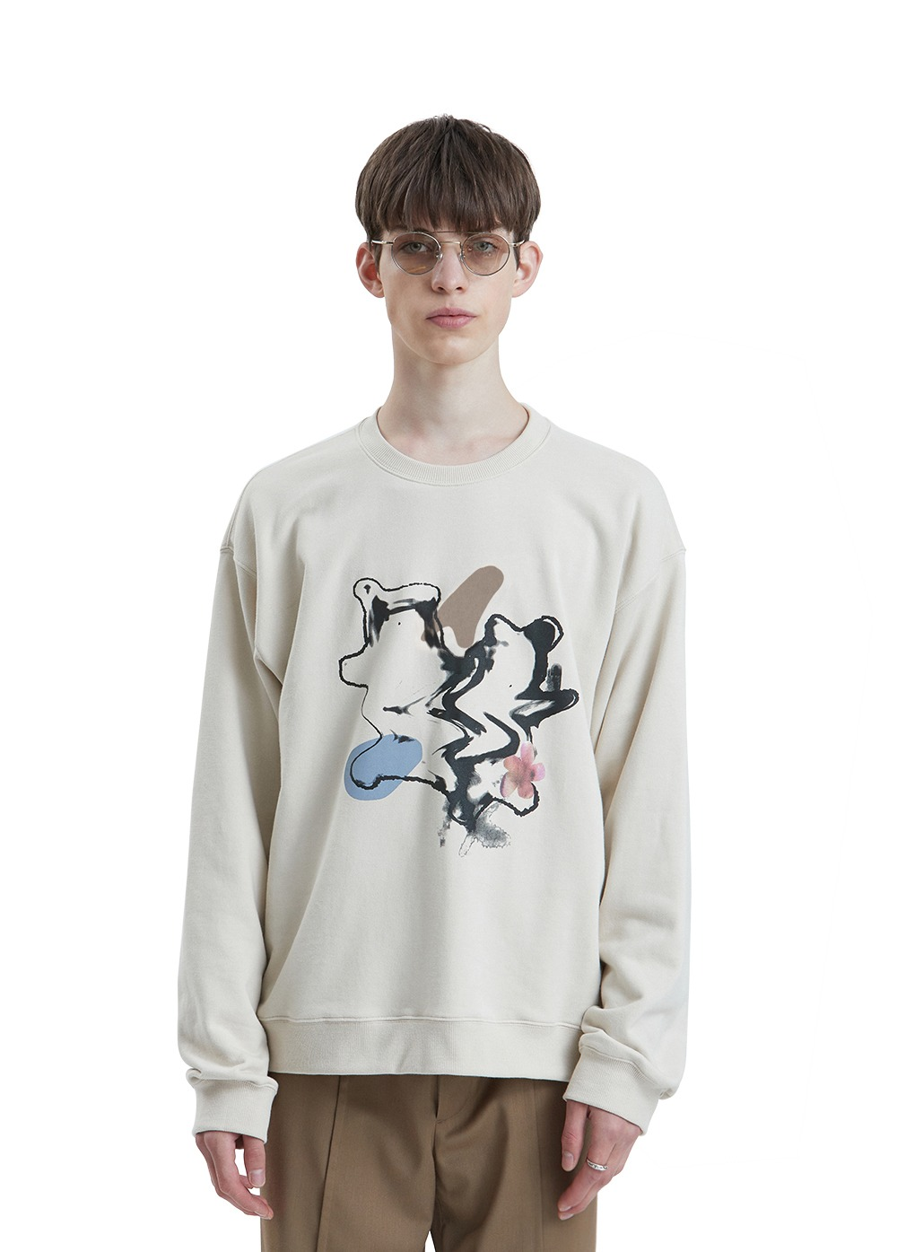 LIFUL SPREAD BEAR SWEATSHIRT sand beige