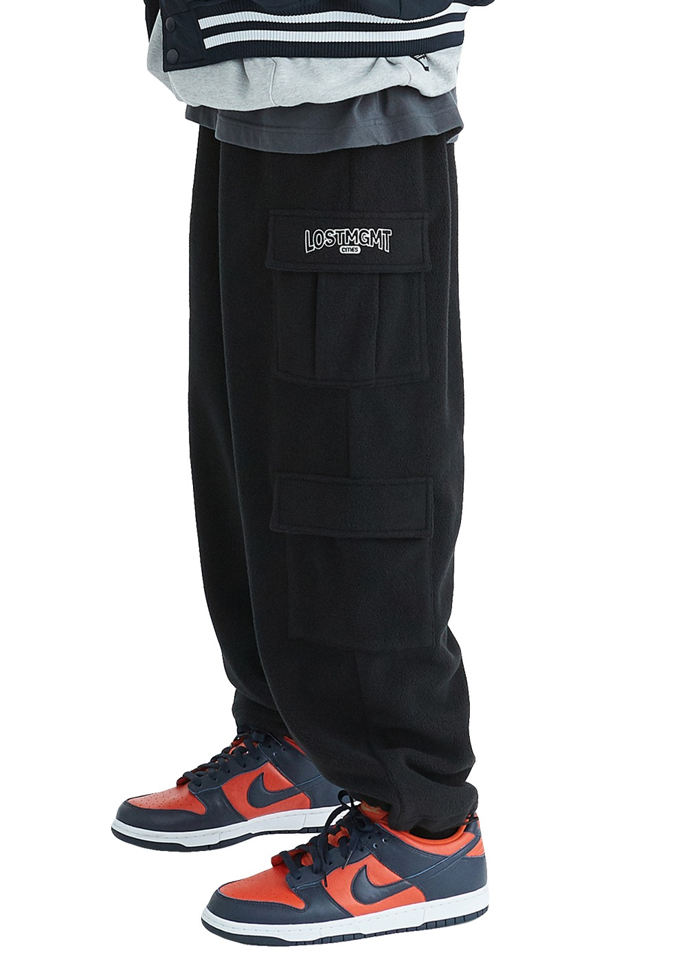 LMC FLEECE CARGO PANTS black