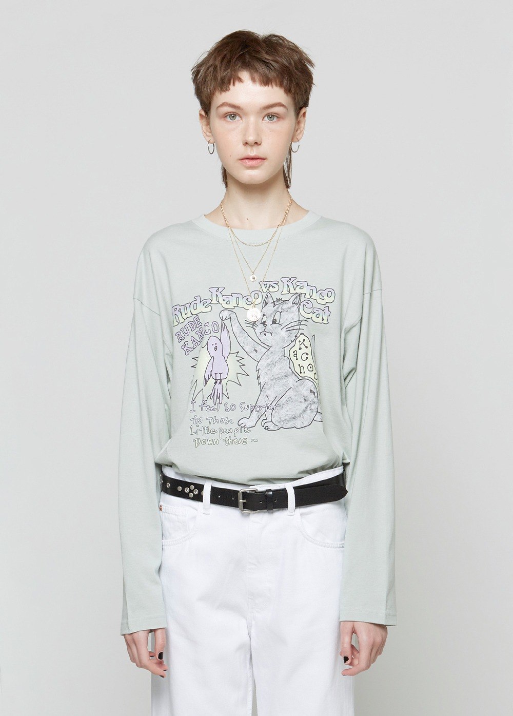 KANCO vs CAT LONG SLEEVE TEE mint