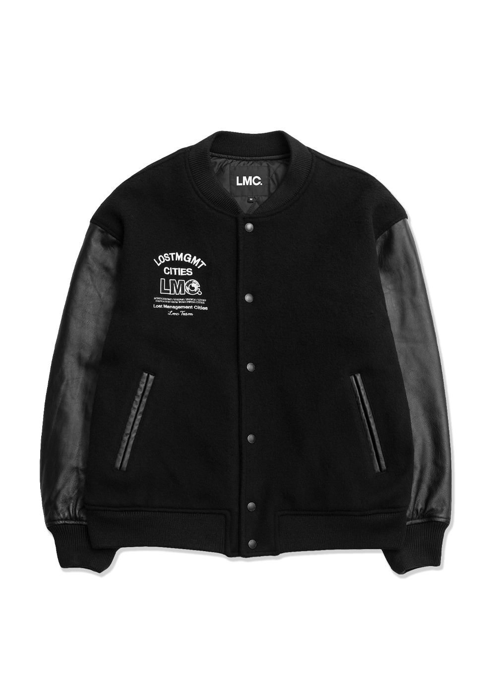 LMC TEAM VARSITY JACKET black