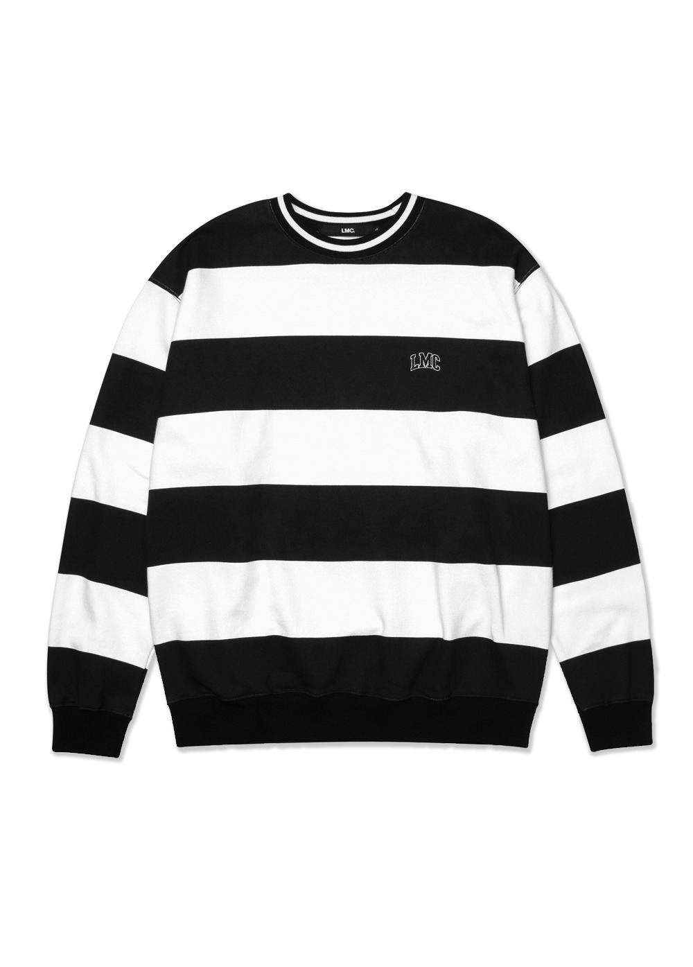 LMC PRINTED STRIPE SWEATSHIRT black