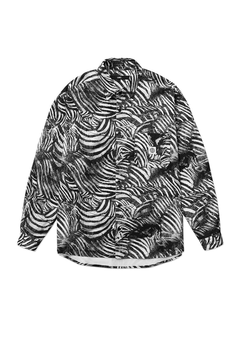 LMC ZEBRA AIRBRUSH SHIRT off white