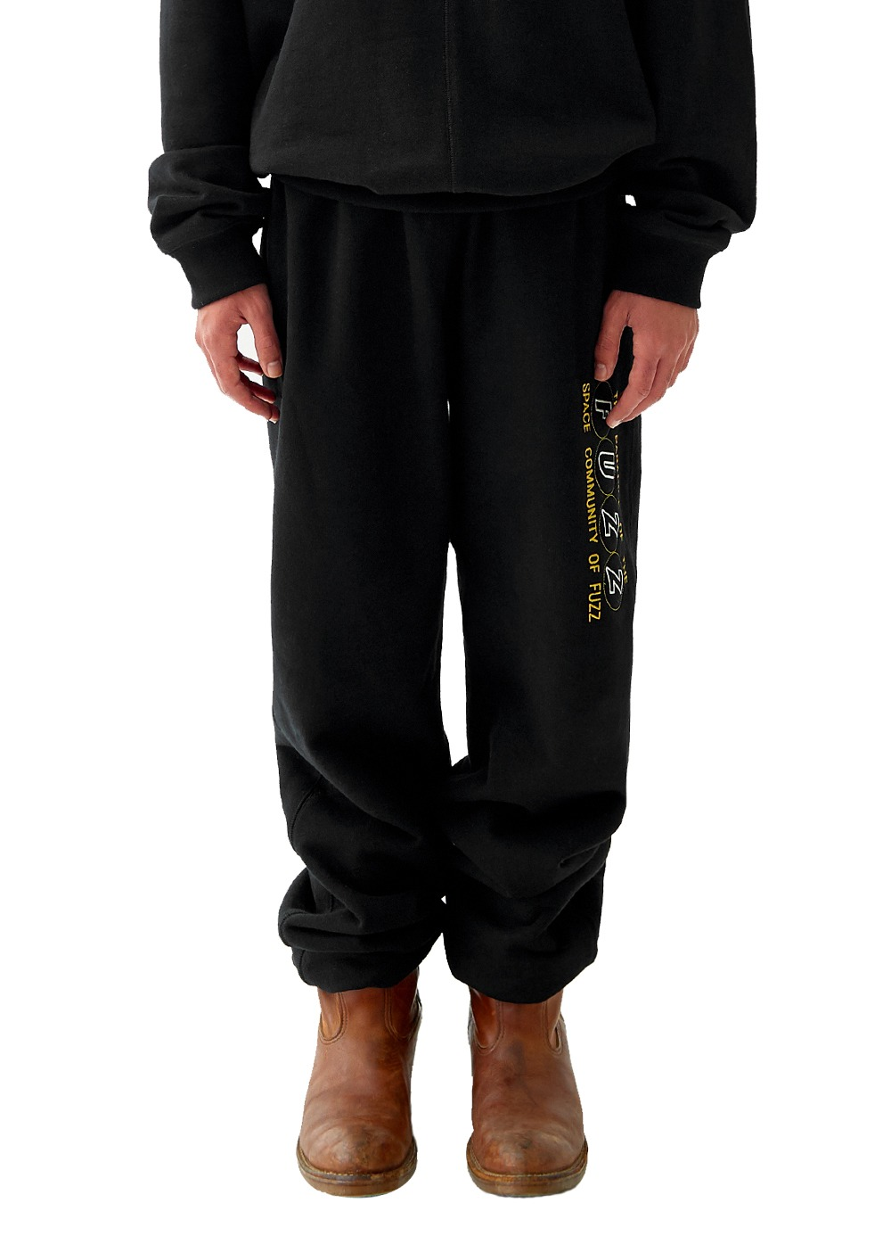 FUZZ COVER STITCH SWEATPANTS black