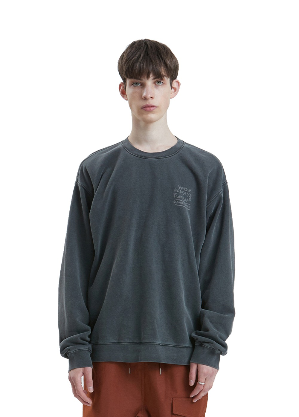 LIFUL P-DYED HANDWRITTEN SWEATSHIRT black