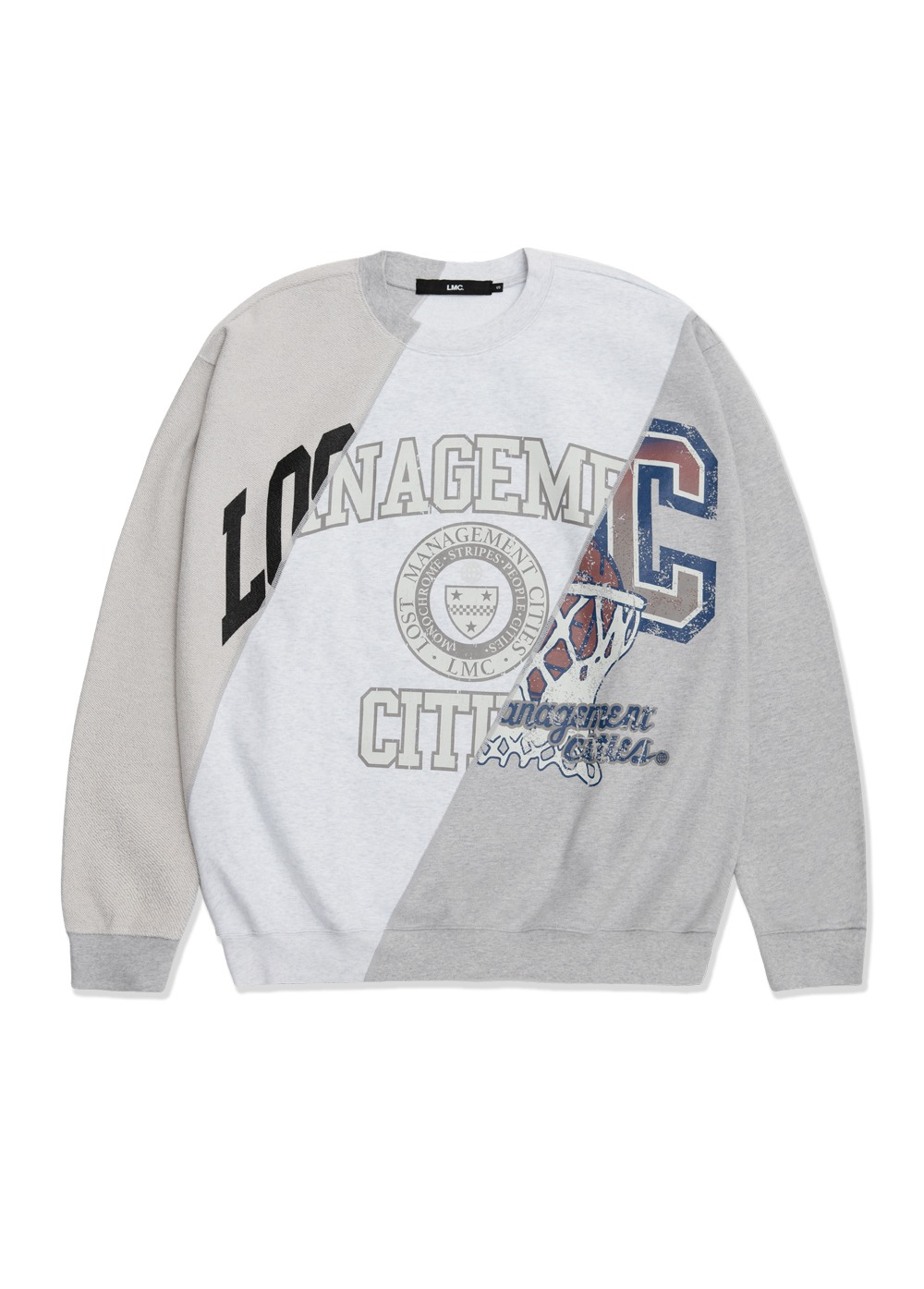 LMC UNIV TRIDIAGONAL OVERSIZED SWEATSHIRT heather gray