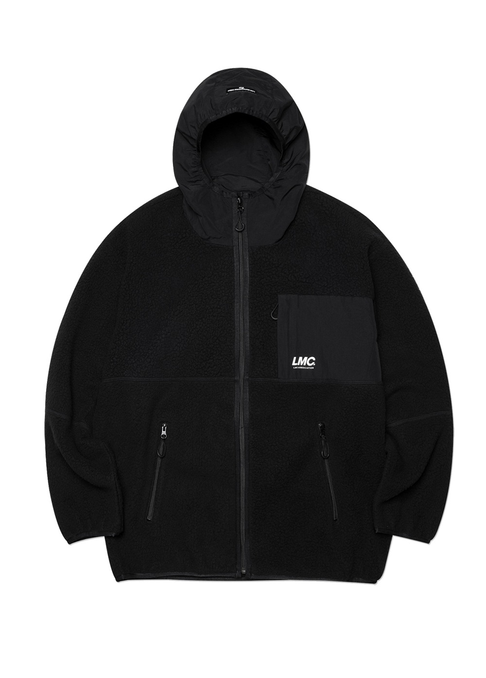 LMC HOODED FLEECE JACKET black