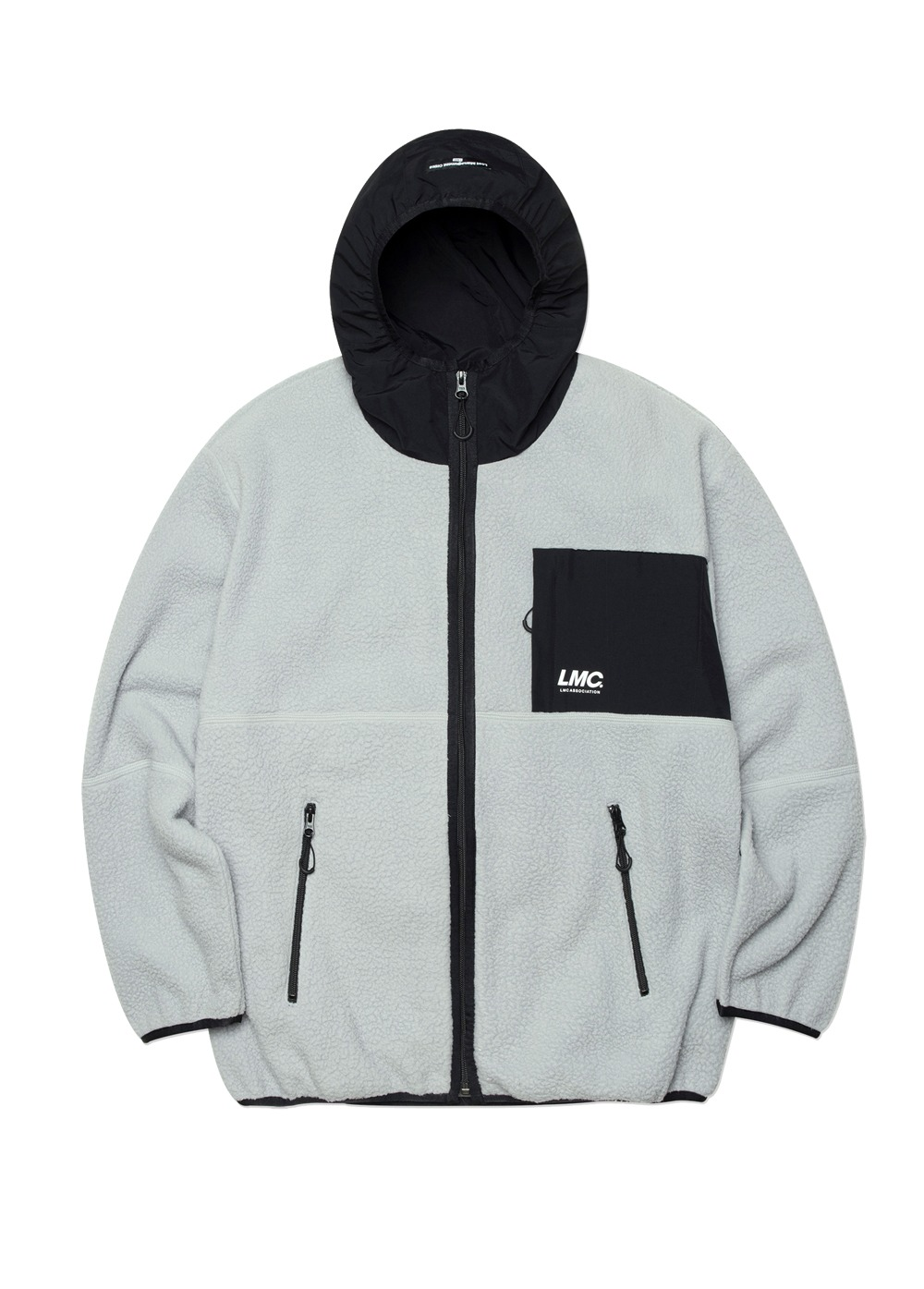 LMC HOODED FLEECE JACKET gray