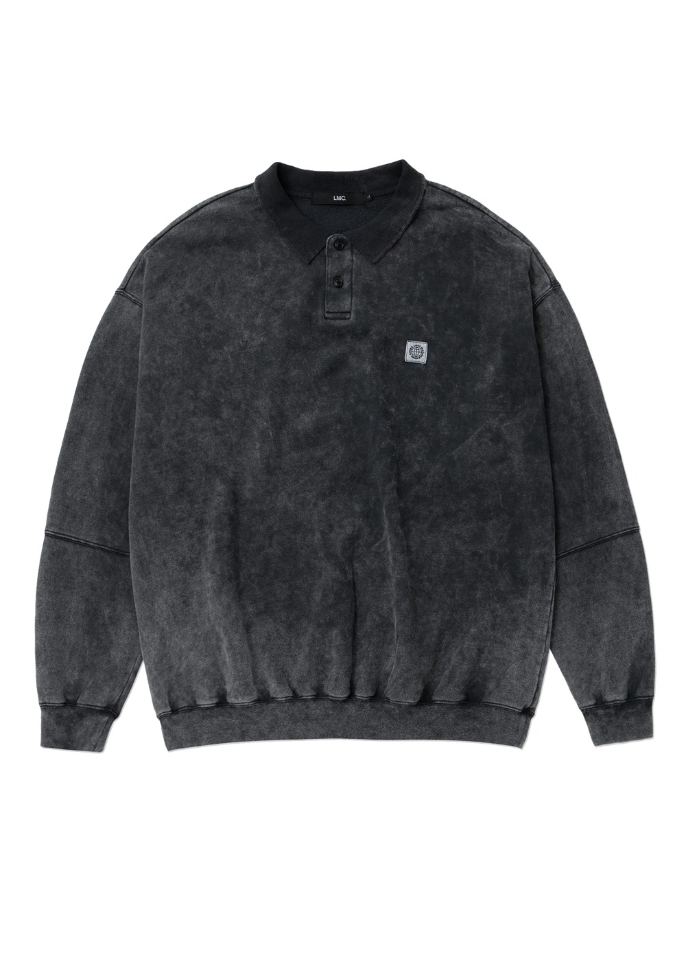 LMC ACID WASH OVERSIZED COLLAR SWEATSHIRT charcoal