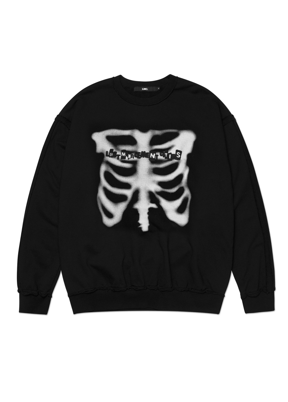 LMC X-RAY RAW EDGE OVERSIZED SWEATSHIRT black