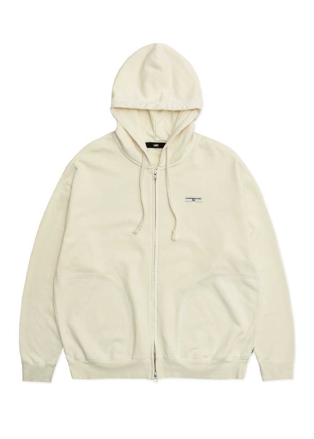 LMC OVERDYED ARCH ZIP-UP HOODIE cream