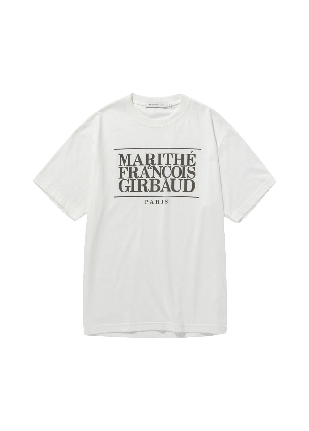MARITHE CLASSIC LOGO TEE off white