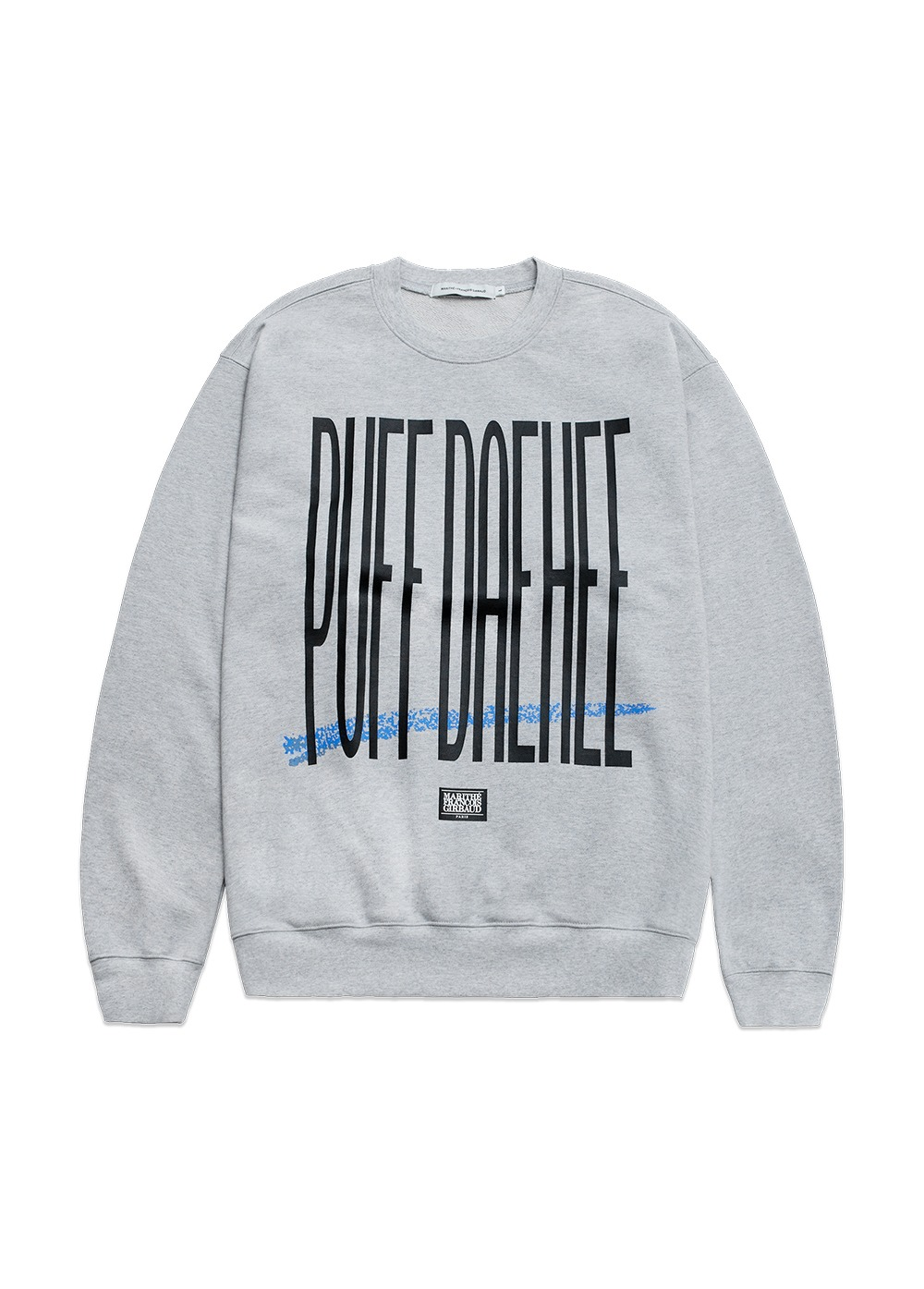 MFG X 8BALLTOWN PUFF DAEHEE SWEATSHIRT heather gray