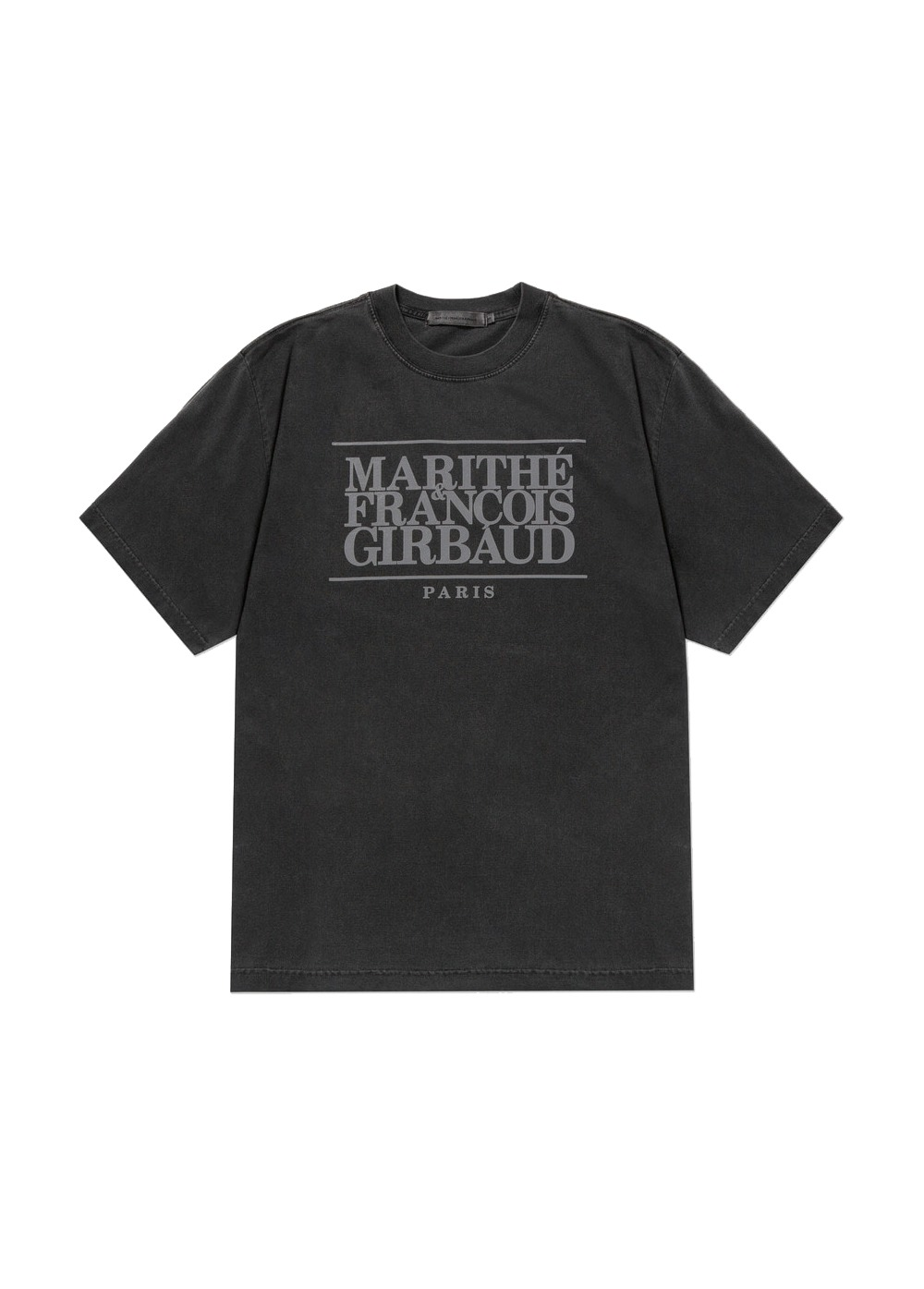 MARITHE CLASSIC LOGO TEE charcoal