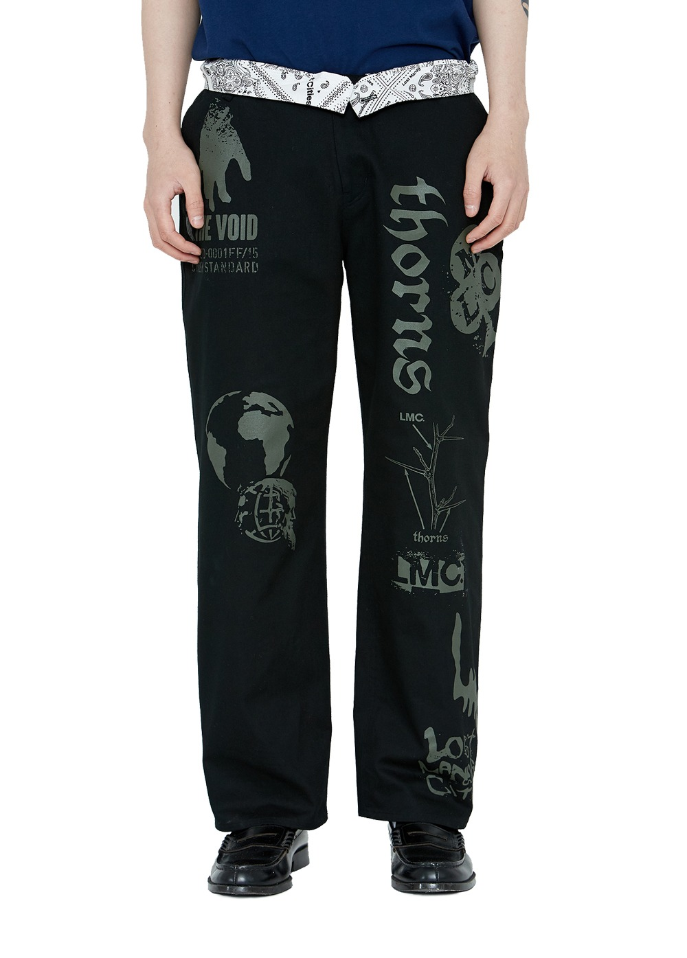 LMC GRAPHIC PRINTED DESCRIPTION WORK PANTS black