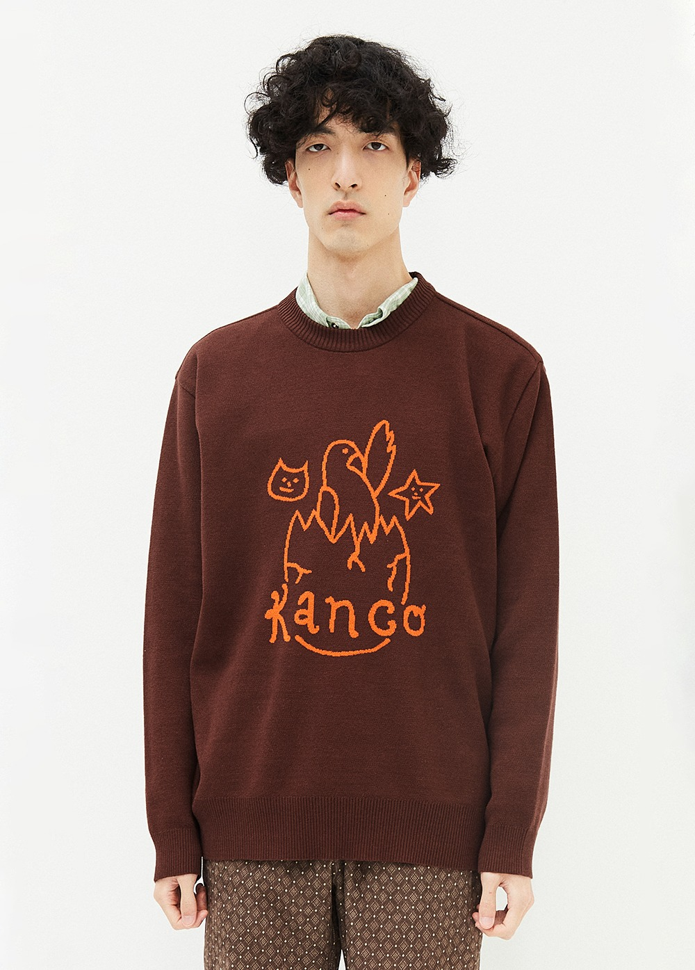 KANCO BIRTHDAY KNIT PULLOVER brown