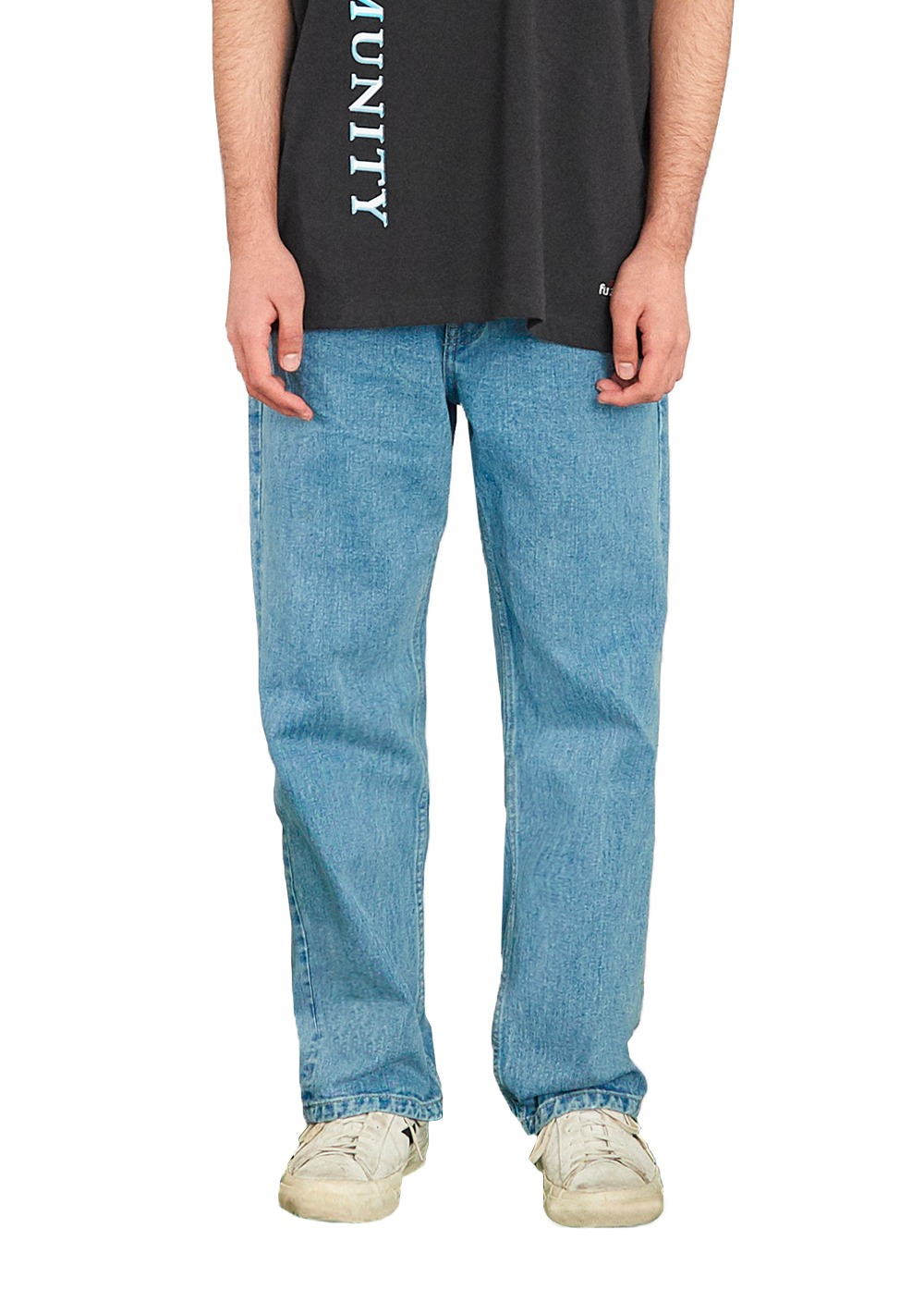FUZZ 001 STONE WASHED JEAN light blue