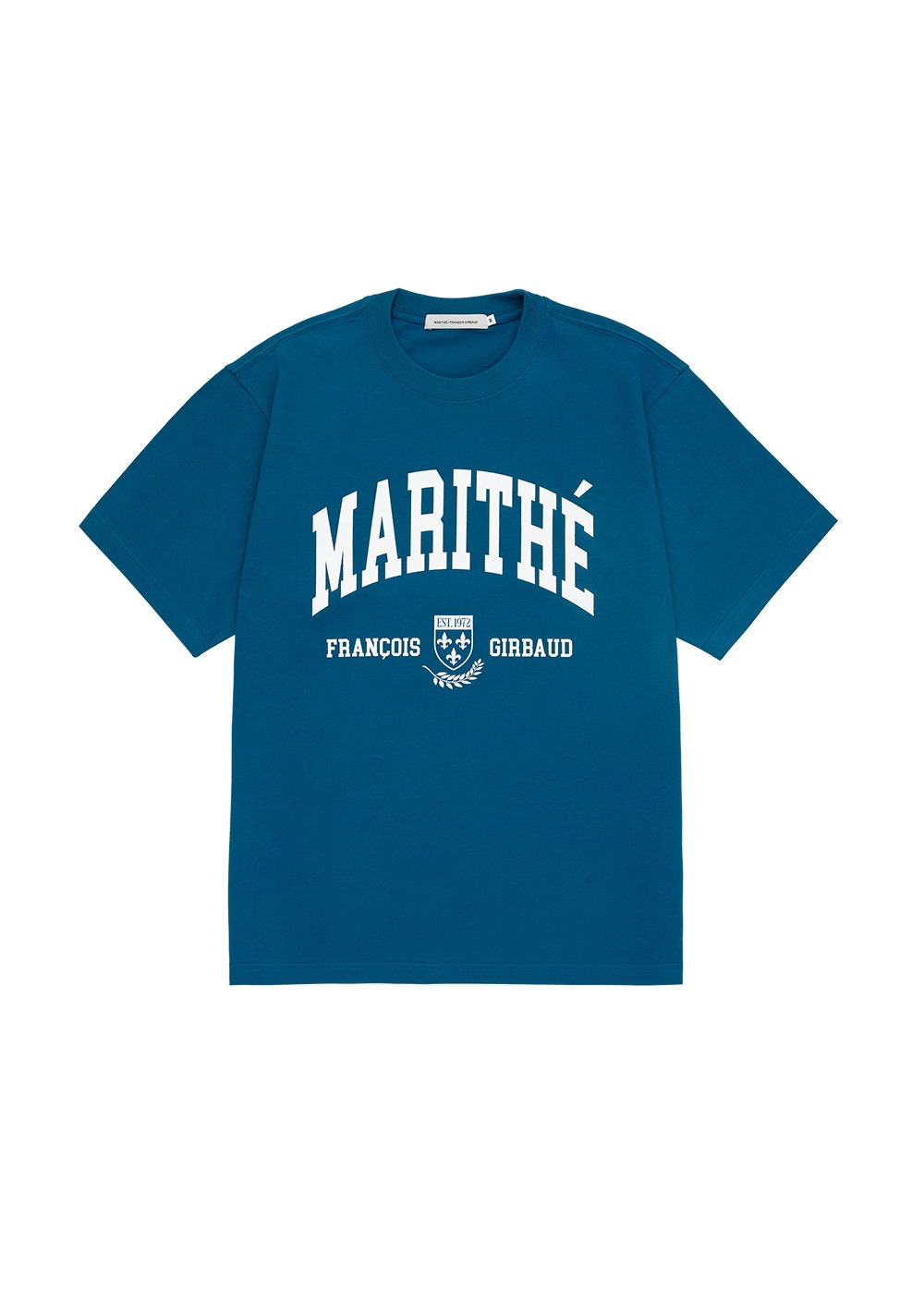 MARITHE COLLEGE TEE blue