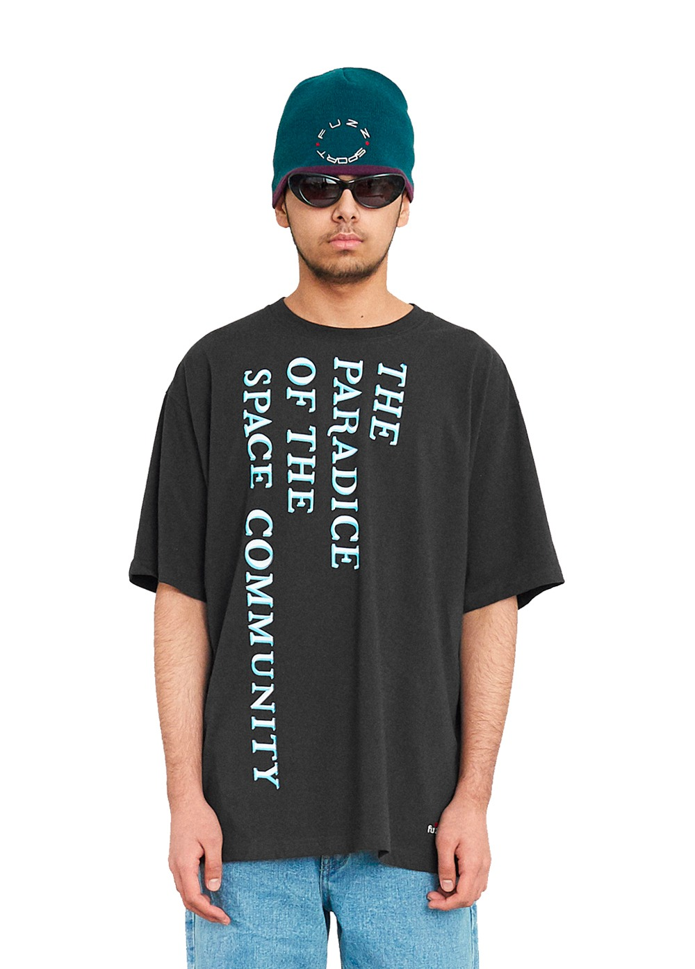 FUZZ INFORMATION CHAOS S/S TEE dark charcoal