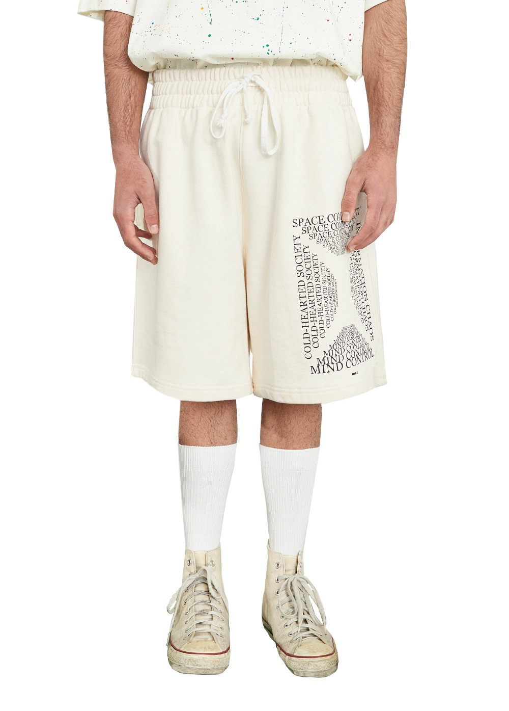 FUZZ MINDCONTROL SWEAT SHORTS cream