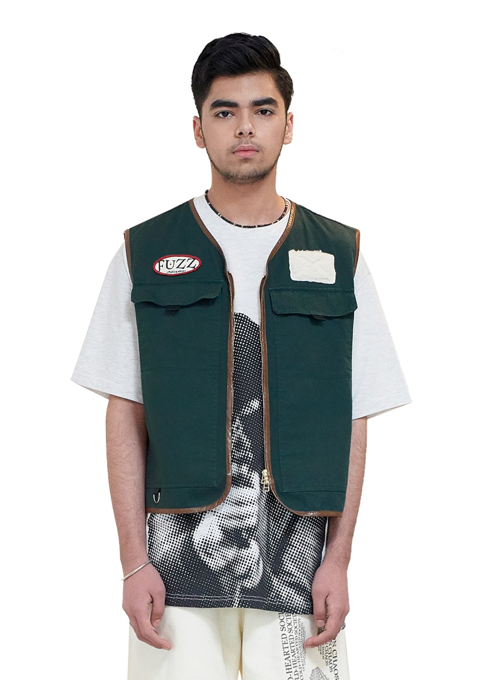 FUZZ FISHING SHOP VEST dark green