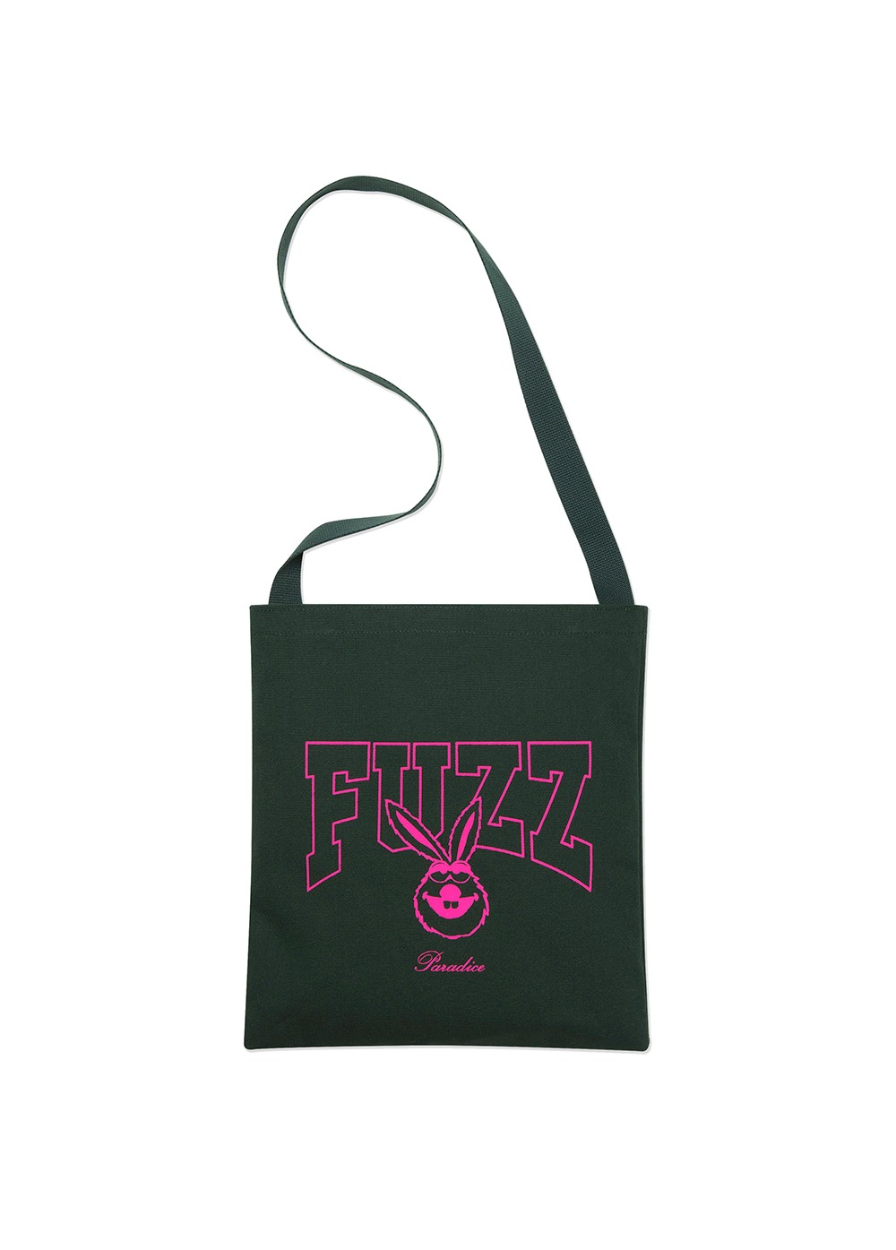 FUZZ BUNNY BONE CANVAS BAG green