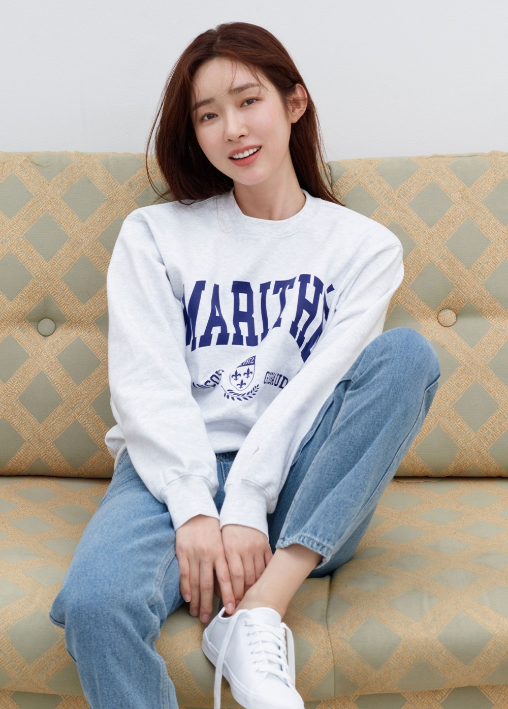 MARITHE COLLEGE SWEATSHIRT heather gray