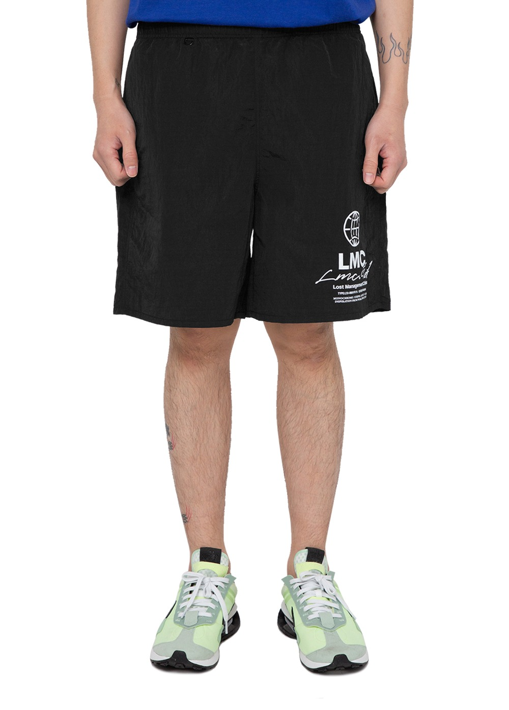 LMC TED GLOSSY WATER SHORTS black